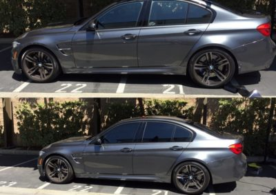 BMW tint before after