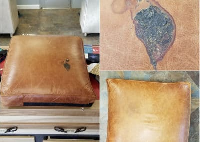 Cushion damage before n after