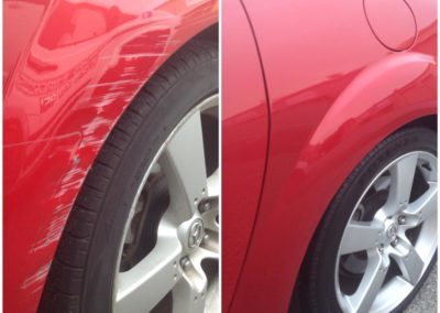 red car scratches