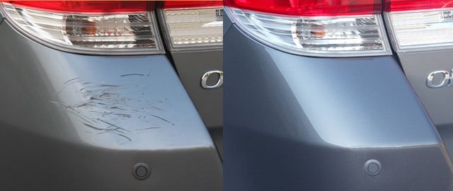 scratches before after