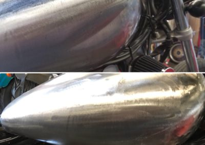Shiny Silver Gas Tank