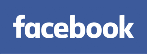 A sharp and rectangular social media logo of Facebook. It was typed out without a capital 'F'.