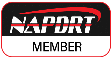 NAPDRT Member logo for paintless dent repair.